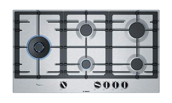 Bosch Built-in Gas Hob Stainless Steel 5 Burner Silver PCS9A5C90I